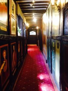 Corridor to bar